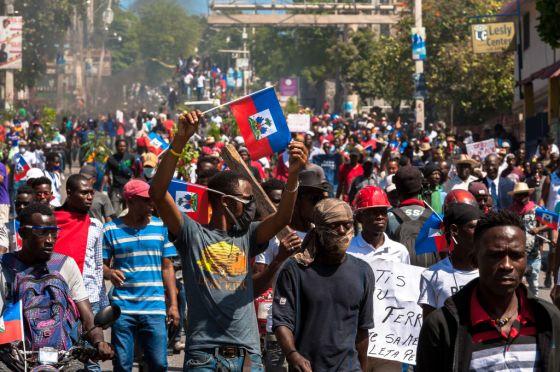 Protest against President Moise in Haiti