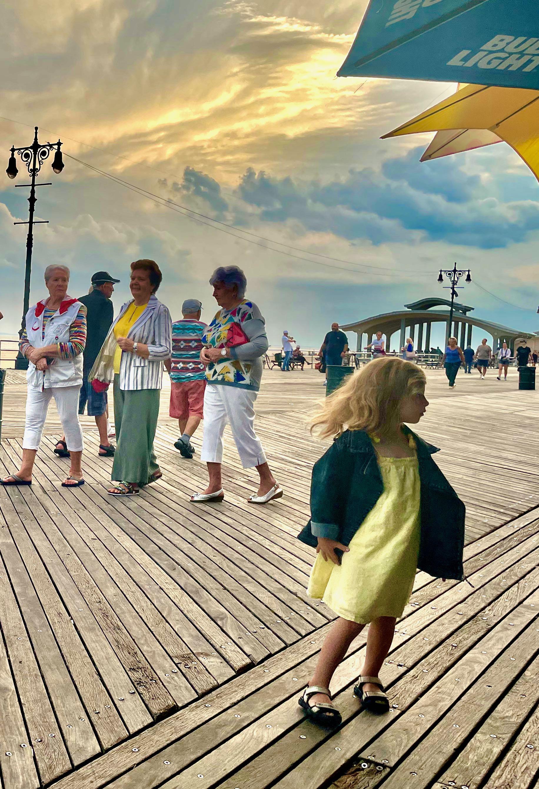 Summer 2021 on the Brighton Beach boardwalk in Brooklyn, NY.