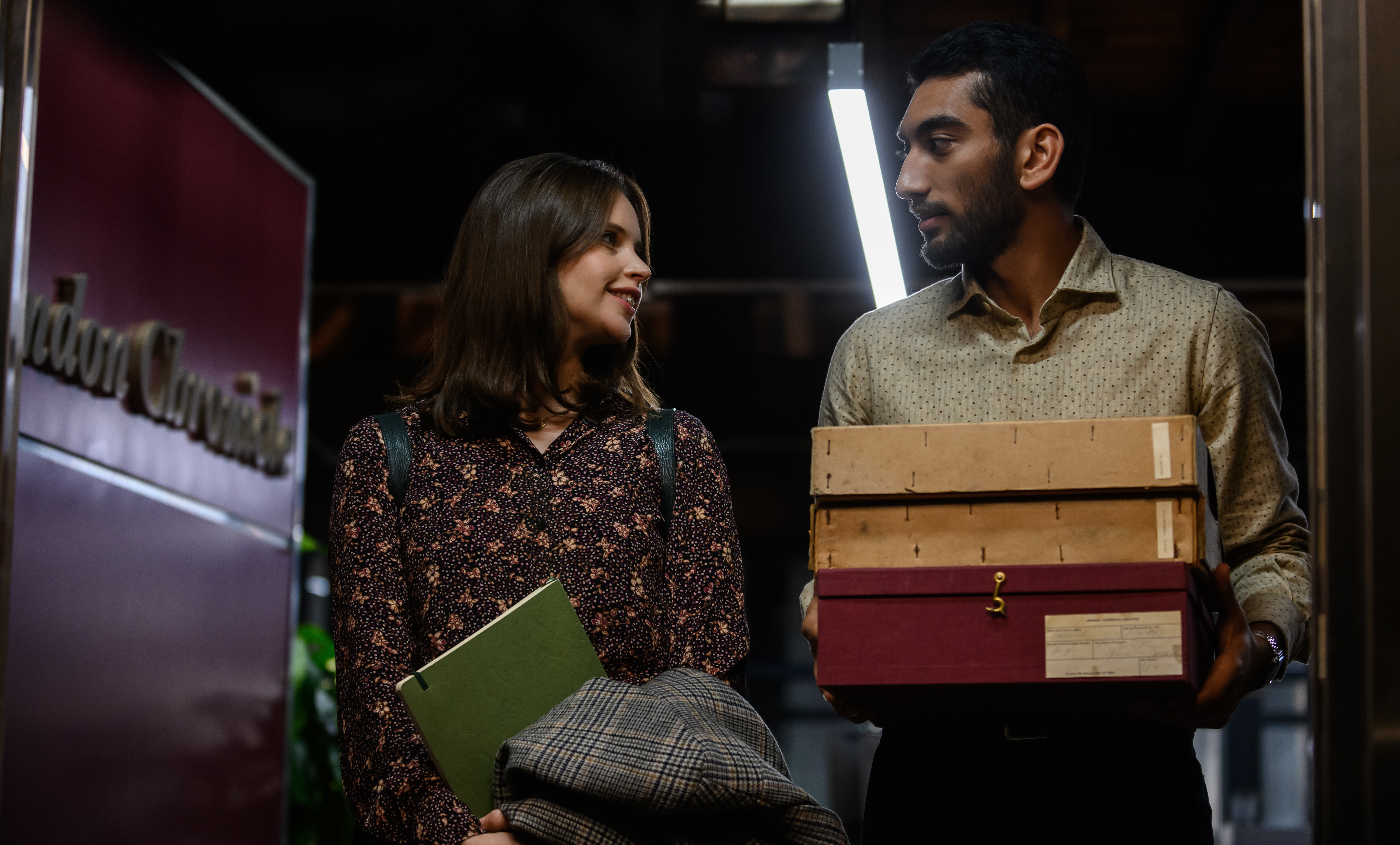 Felicity Jones and Nabhaan Rizwan in 'The Last Letter From Your Lover'