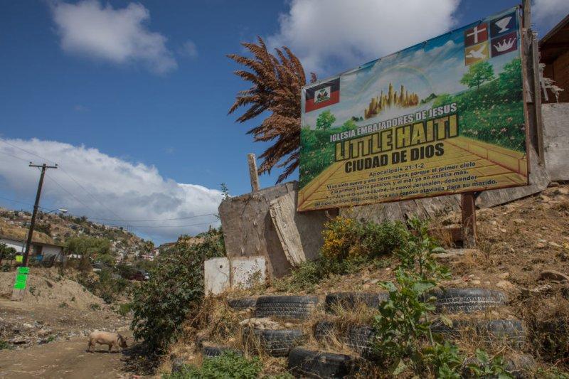 Haitian migrants live in  Little Haiti  in Tijuana, Mexico. May 27th, 2019 in Tijuana, Mexico.