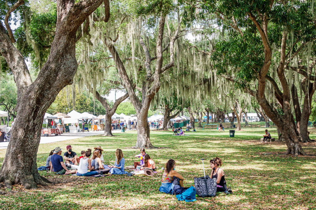 Miamians spend time in Legion Park. One of Gilbert's goals is to increase green space and tree cover across the county.