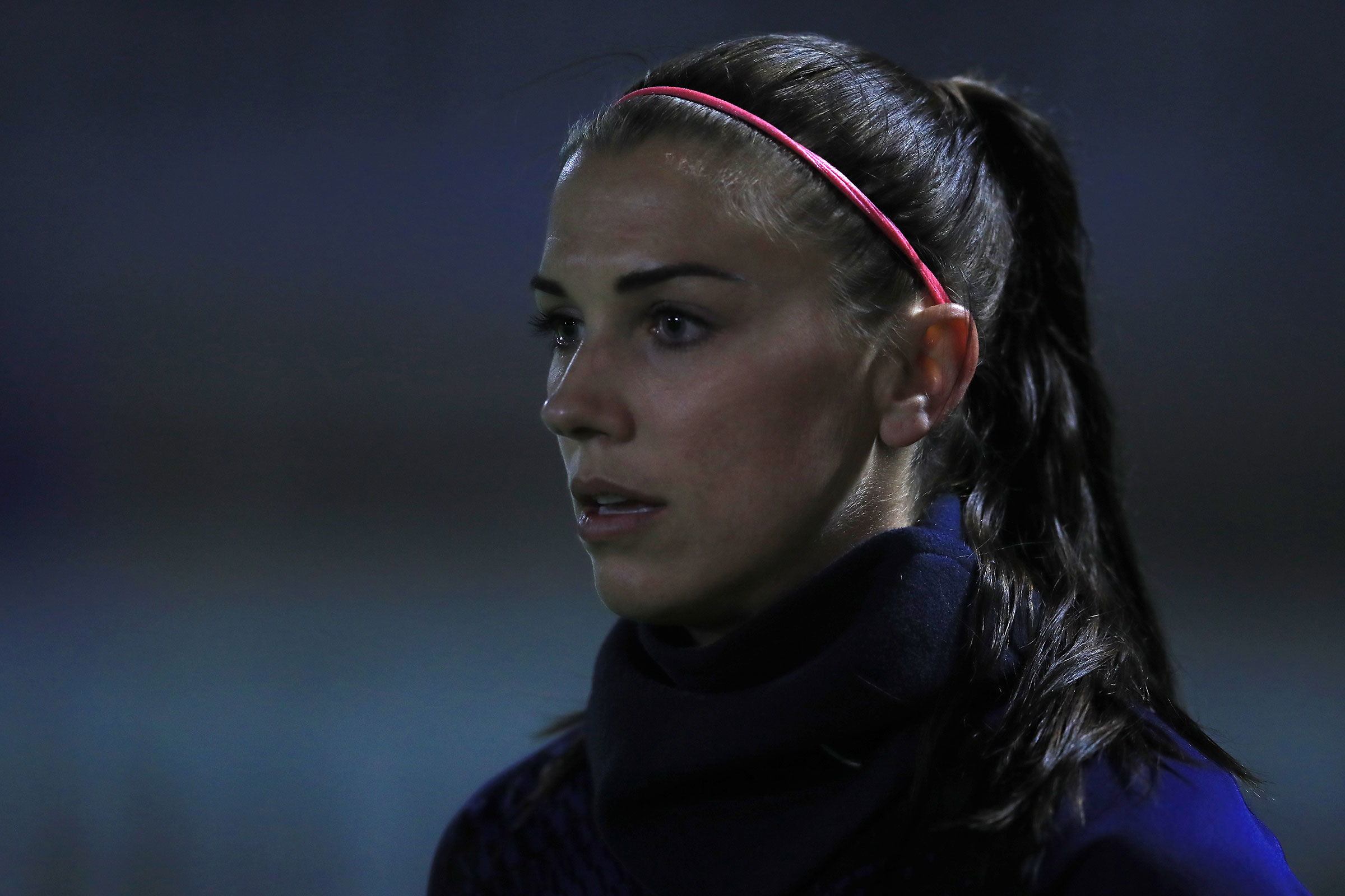 Tottenham Hotspur's Alex Morgan warming up before the Continental Cup match at Meadow Park, London.