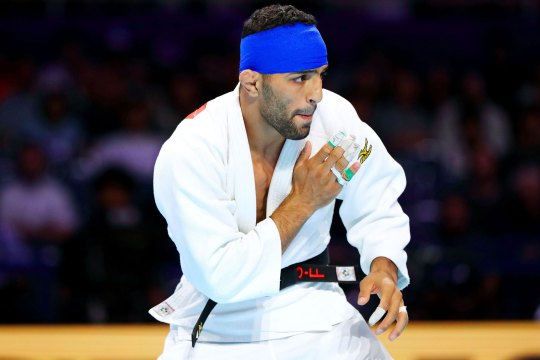 Saeid Mollaei at the World Judo Championships on August 28, 2019 in Tokyo, Japan.