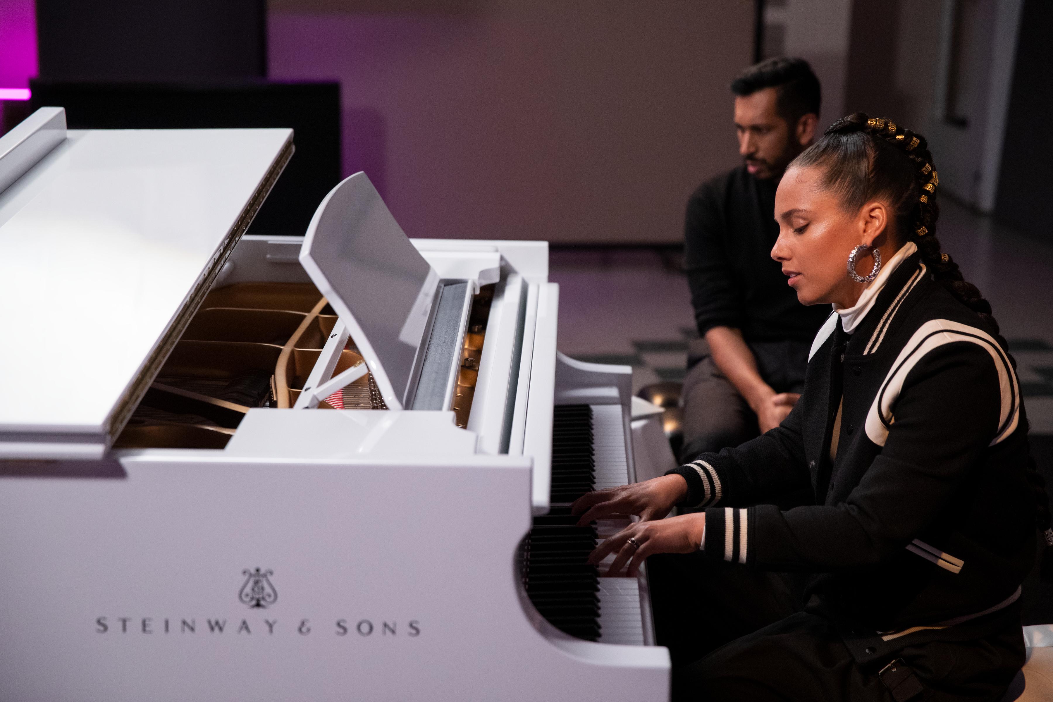 Alicia Keys and Hrishkesh Hirway in 'Song Exploder'