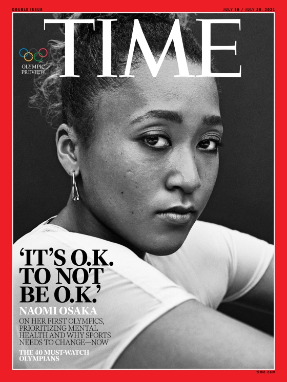 Naomi Osaka Olympics Time Magazine cover