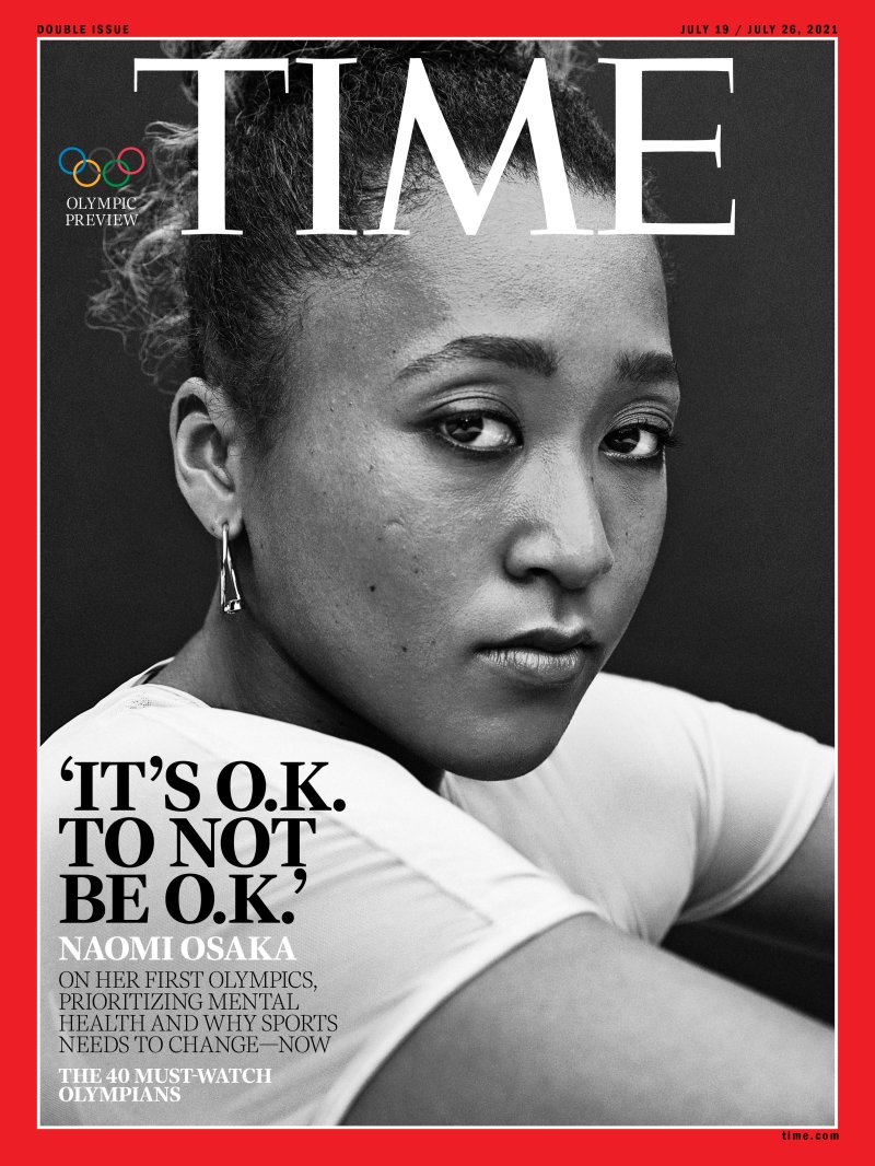 Naomi Osaka is on the Cover of TIME Magazine and Says, 'It's O.K. Not to Be O.K., and It's O.K. to Talk About It'