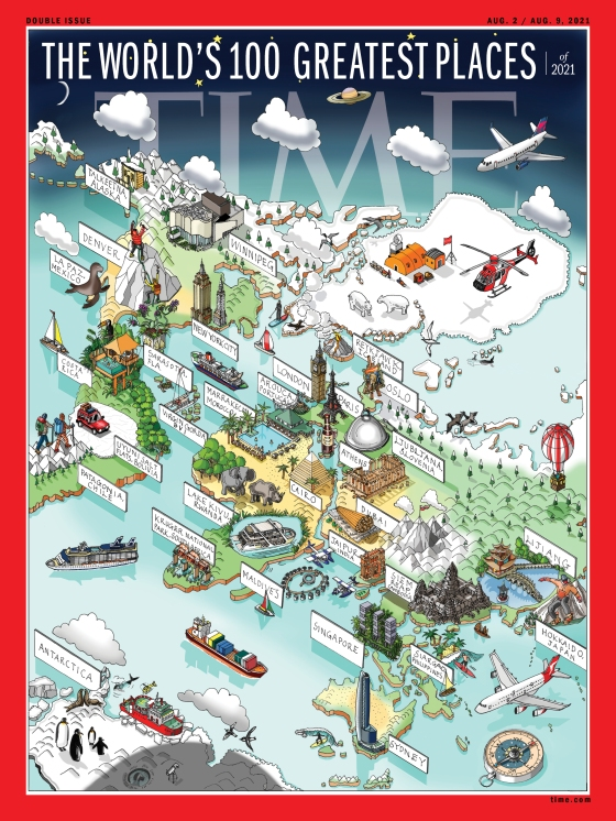 The World's 100 Greatest Place of 2021 Time Magazine Cover