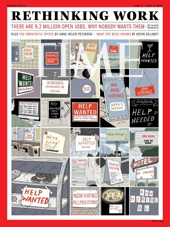 Rethinking Work Time Magazine cover