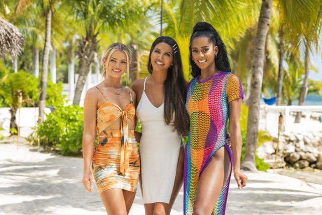 The women of 'FBoy Island,' L-R: Sarah Emig, CJ Franco, Nakia Renee