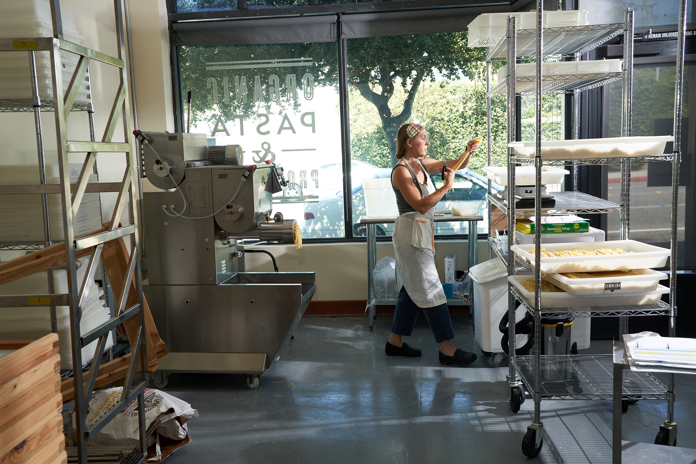 Leah Ferrazzani at Semolina Artisanal Pasta in Pasadena, Calif., on July 19, 2021.