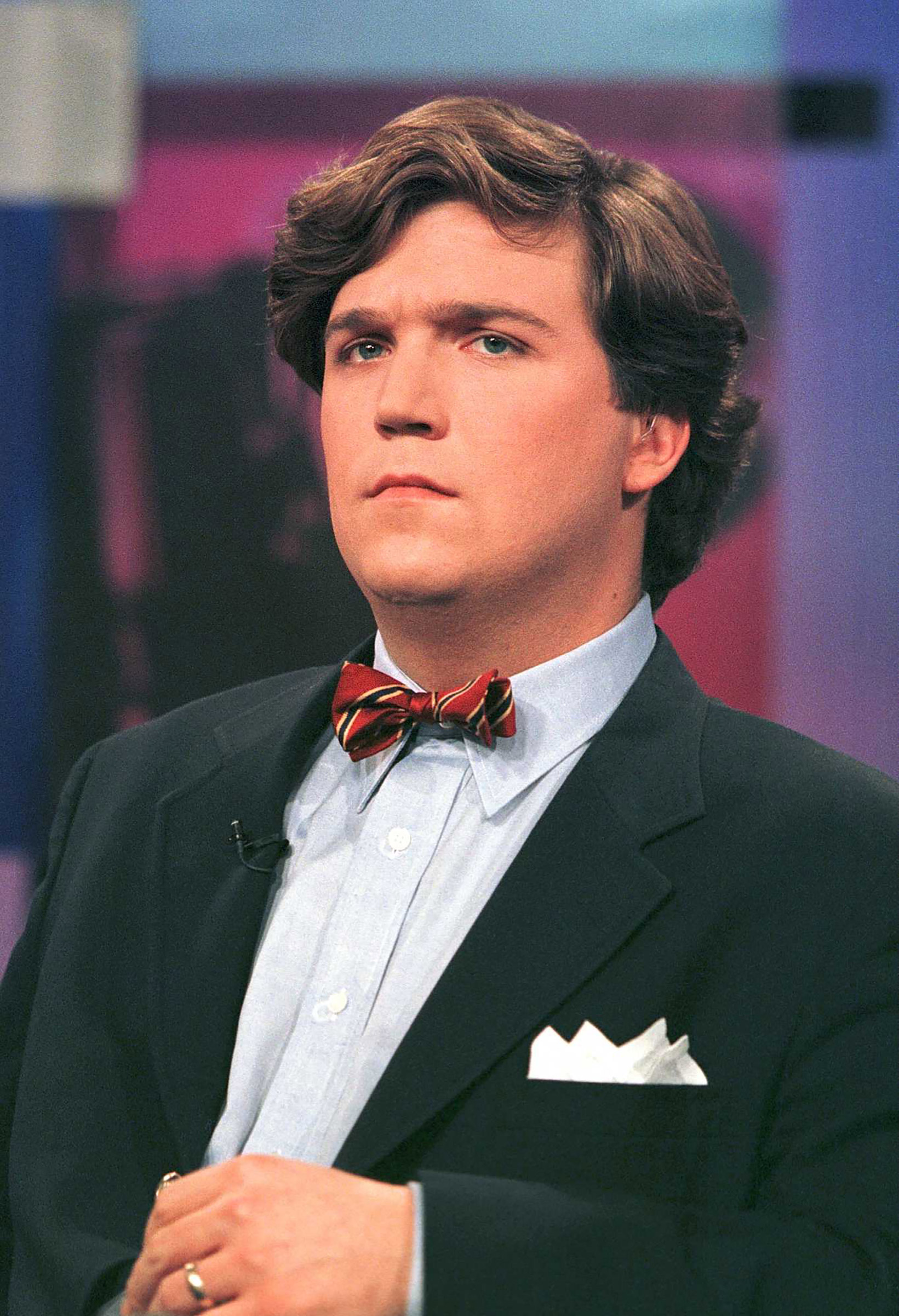 Early in his career as a writer during the 1990's Carlson was known for always wearing a bow tie.