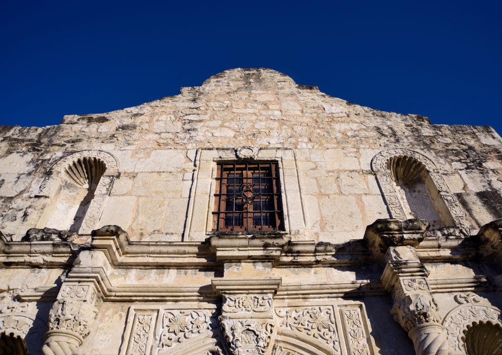 The facade of Mission San Antonio de Valero, better known as The Alamo, on Dec. 9, 2018.