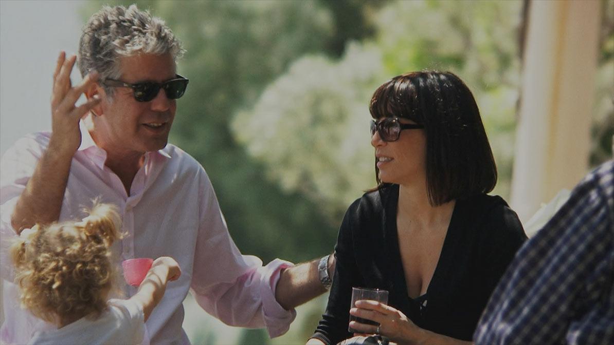 Anthony Bourdain and Ottavia Busia-Bourdain in 'Roadrunner'