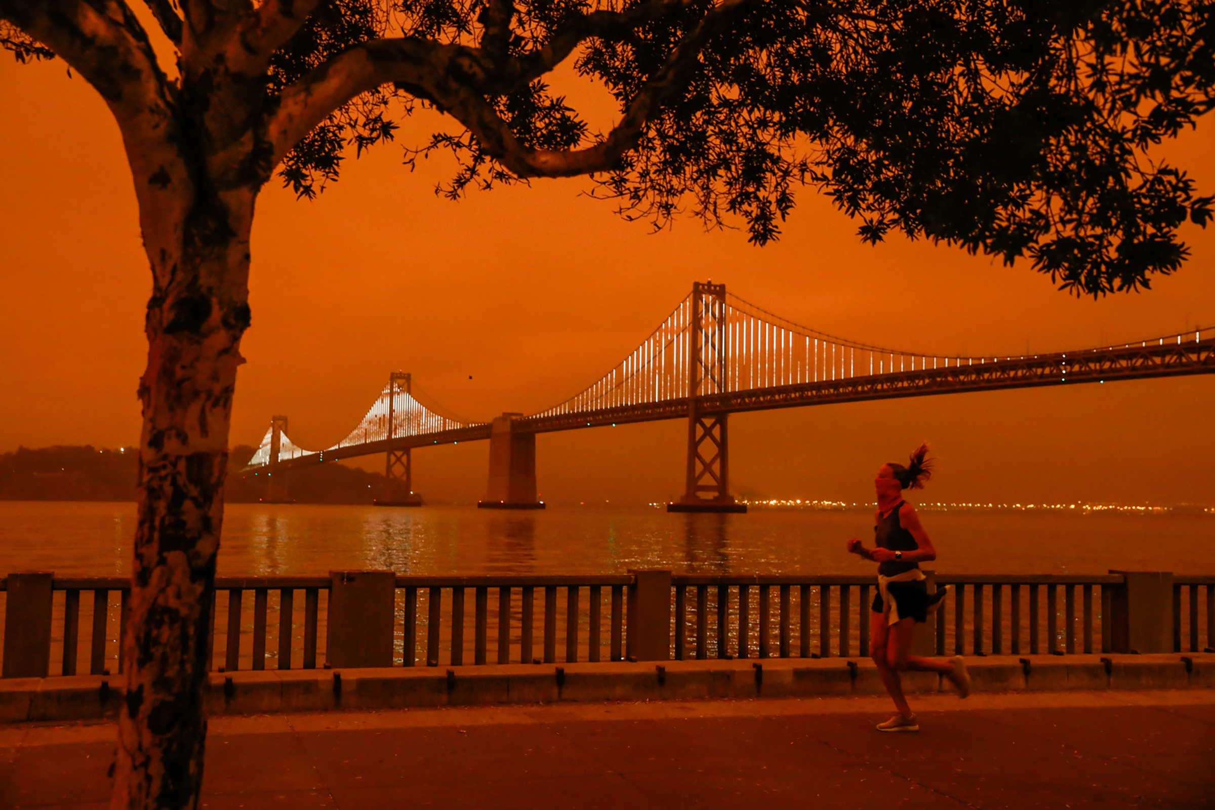 Downtown San Francisco on Sept. 9, 2020, as multiple wildfires burn across California and Oregon.