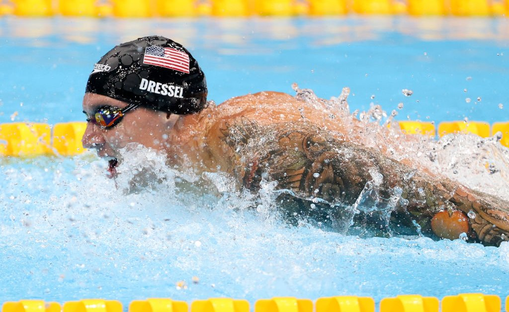 Caeleb Dressel Wins 100-m Butterfly and Sets New World Record