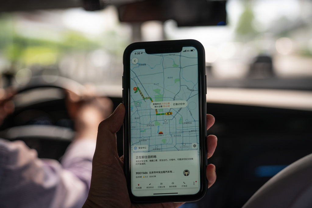 The Didi ride-hailing app on a smartphone arranged in Beijing, China, on Monday, July 5, 2021. China expanded its latest crackdown on the technology industry beyondDidi to include two other companies that recently listed in New York, dealing a blow to global investors while tightening the governments grip on sensitive online data.