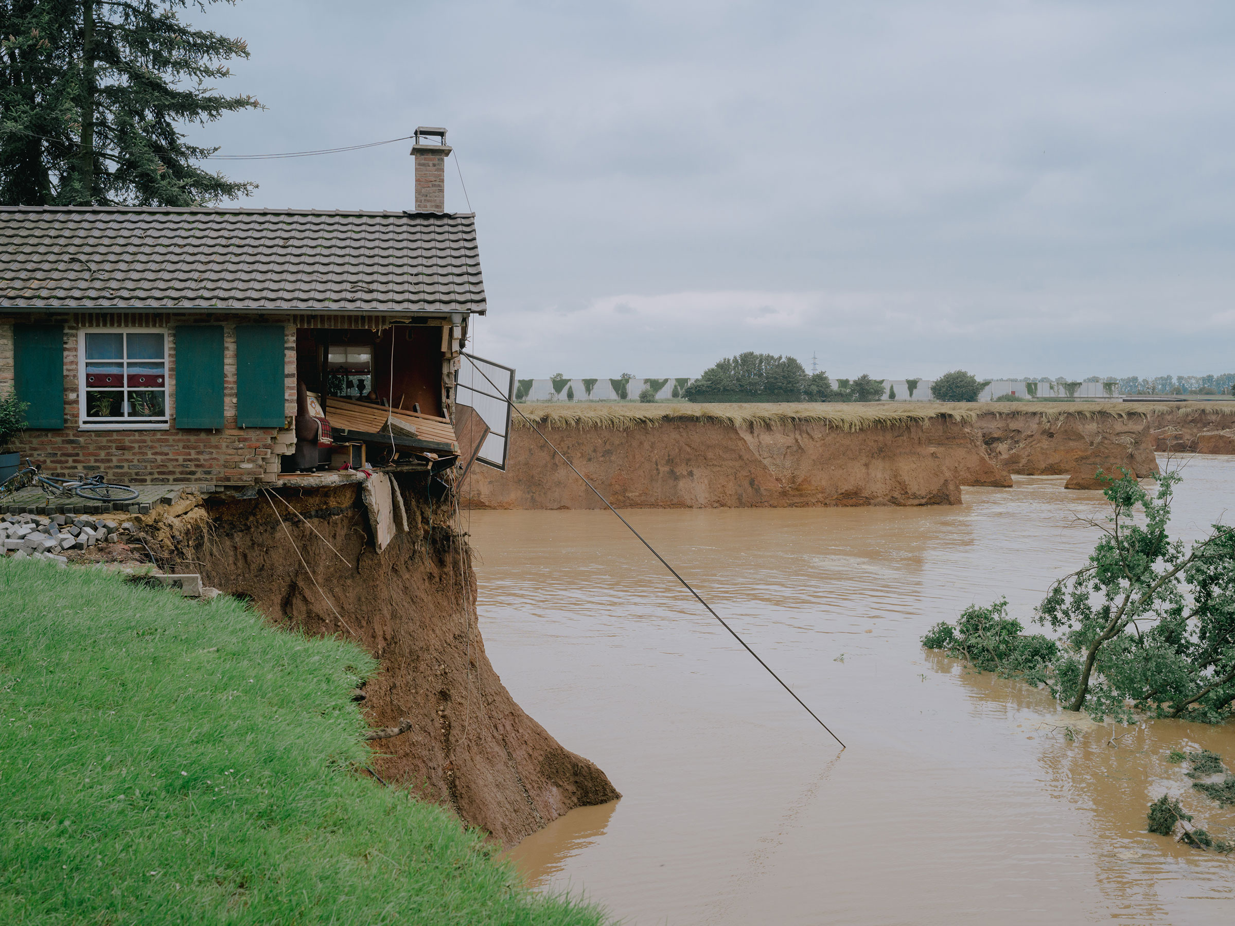 A house damaged by floods in Erfstadt Blessem, Germany, on July 16.