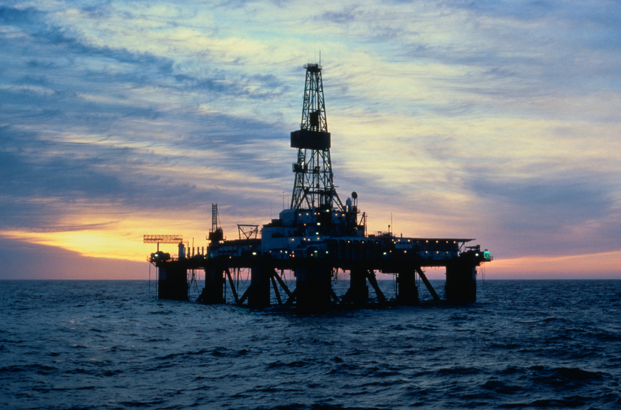 The Sedco 709 offshore oil drilling rig in Davis Straight, between southwest Greenland and Baffin Island.