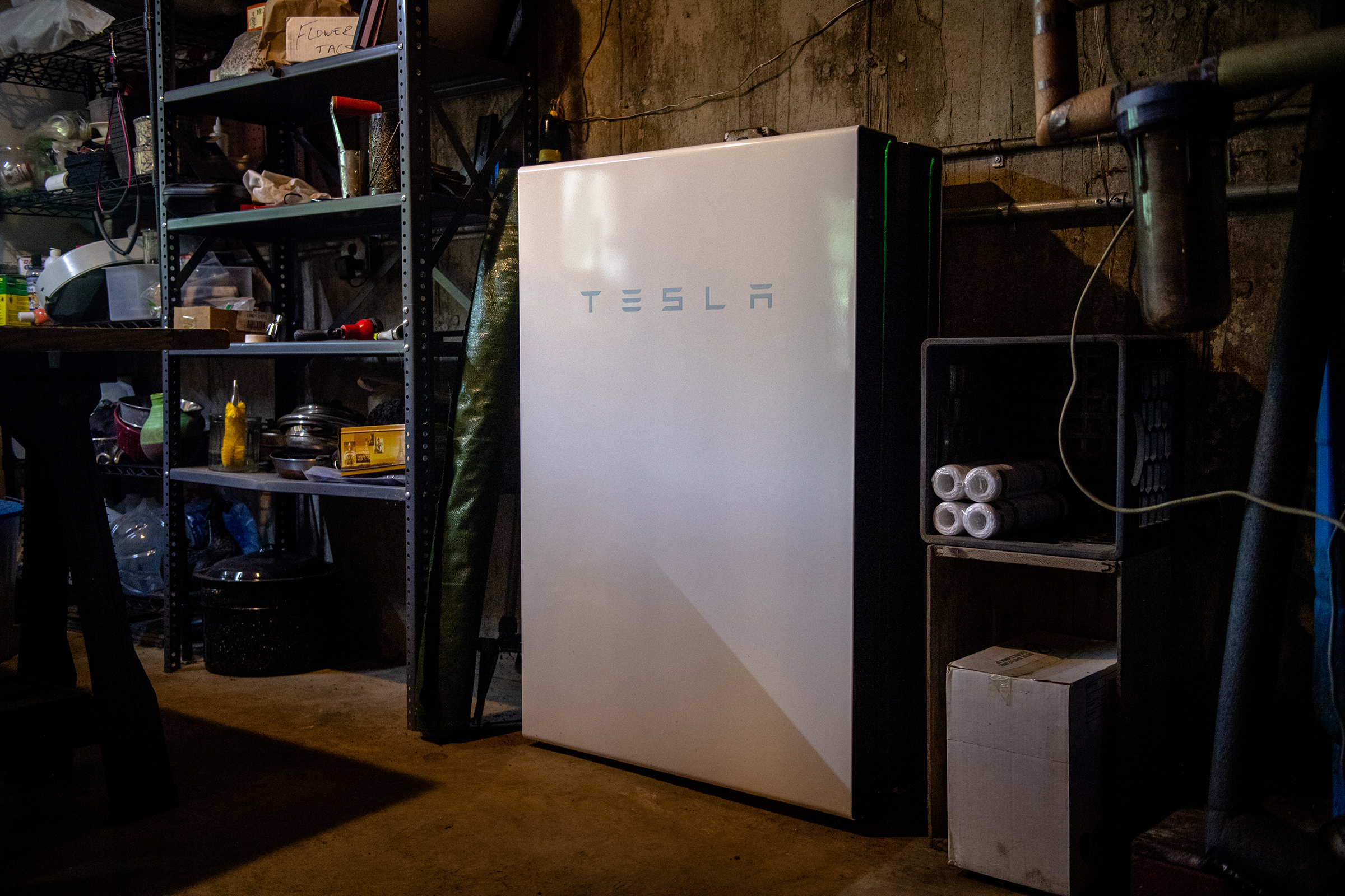 A Tesla Powerwall battery backup system in a home in Guilford, Vt. When the grid-modernization program began in 2017, it was the first such utility-sponsored initiative in the U.S. Nearly 1,000 Vermonters had signed up within a year. In late 2020, state regulators approved it as a permanent program.