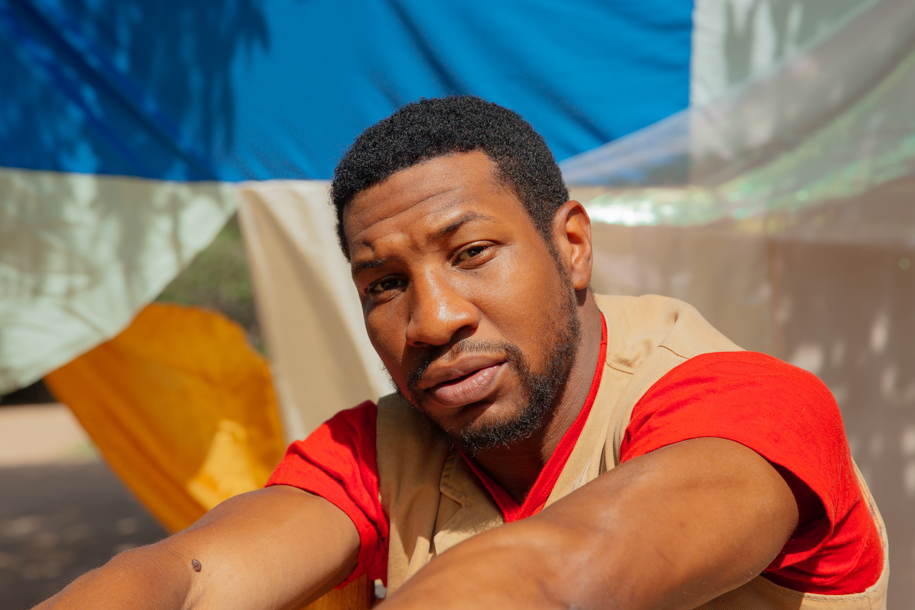 Jonathan Majors at his home in Santa Fe, New Mexico on August 2, 2020