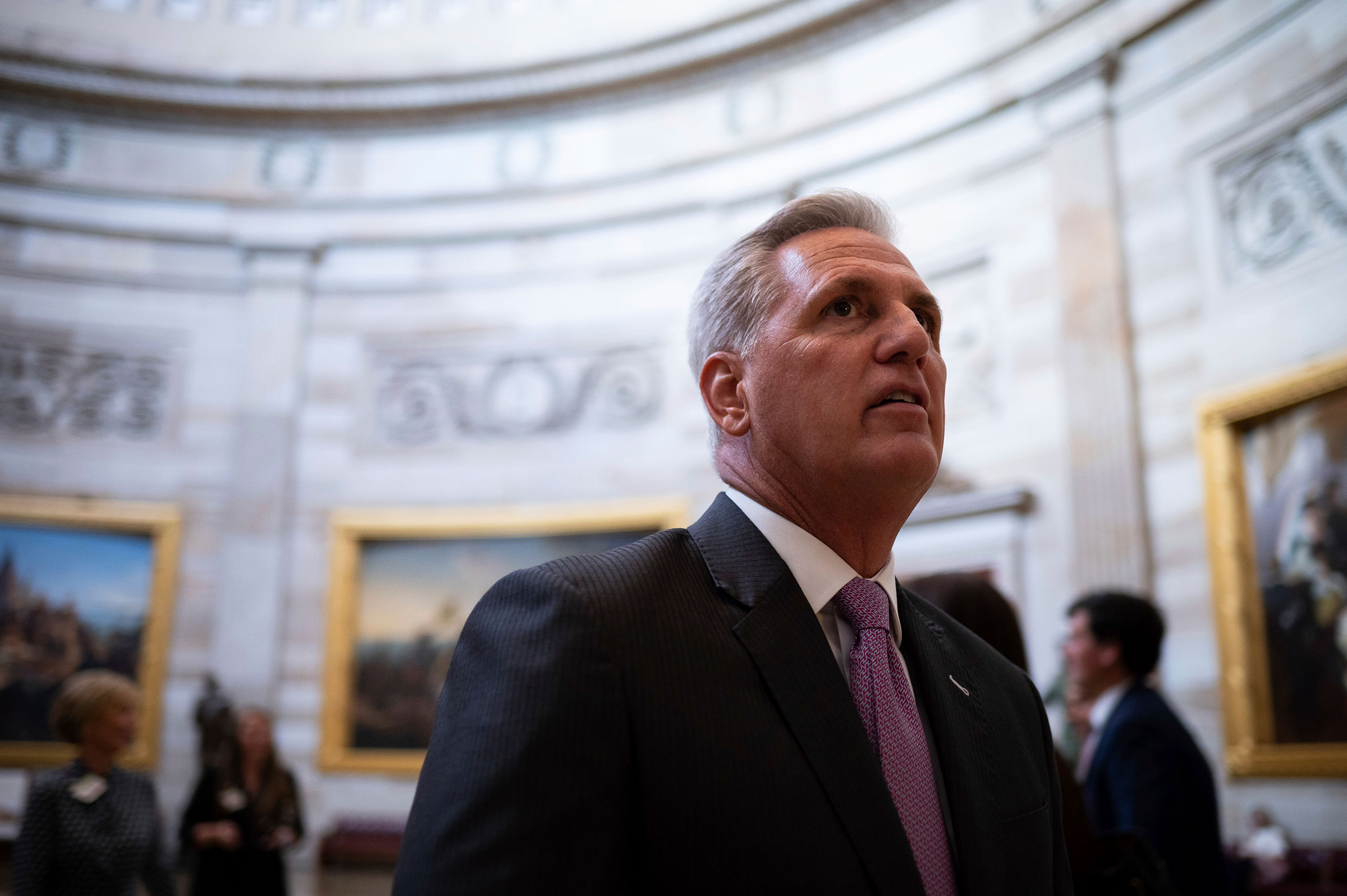 Representative Kevin McCarthy in the Capitol Rotunda, in Washington, on June 14, 2021