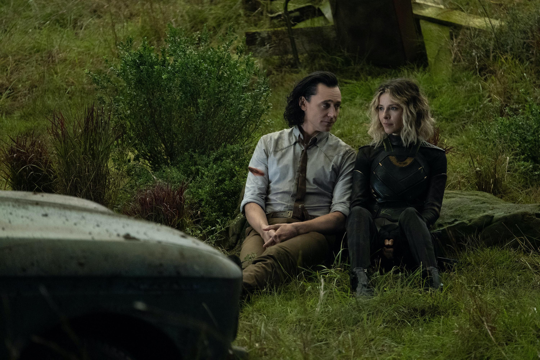 Tom Hiddleston and Sophia Di Martino in Loki