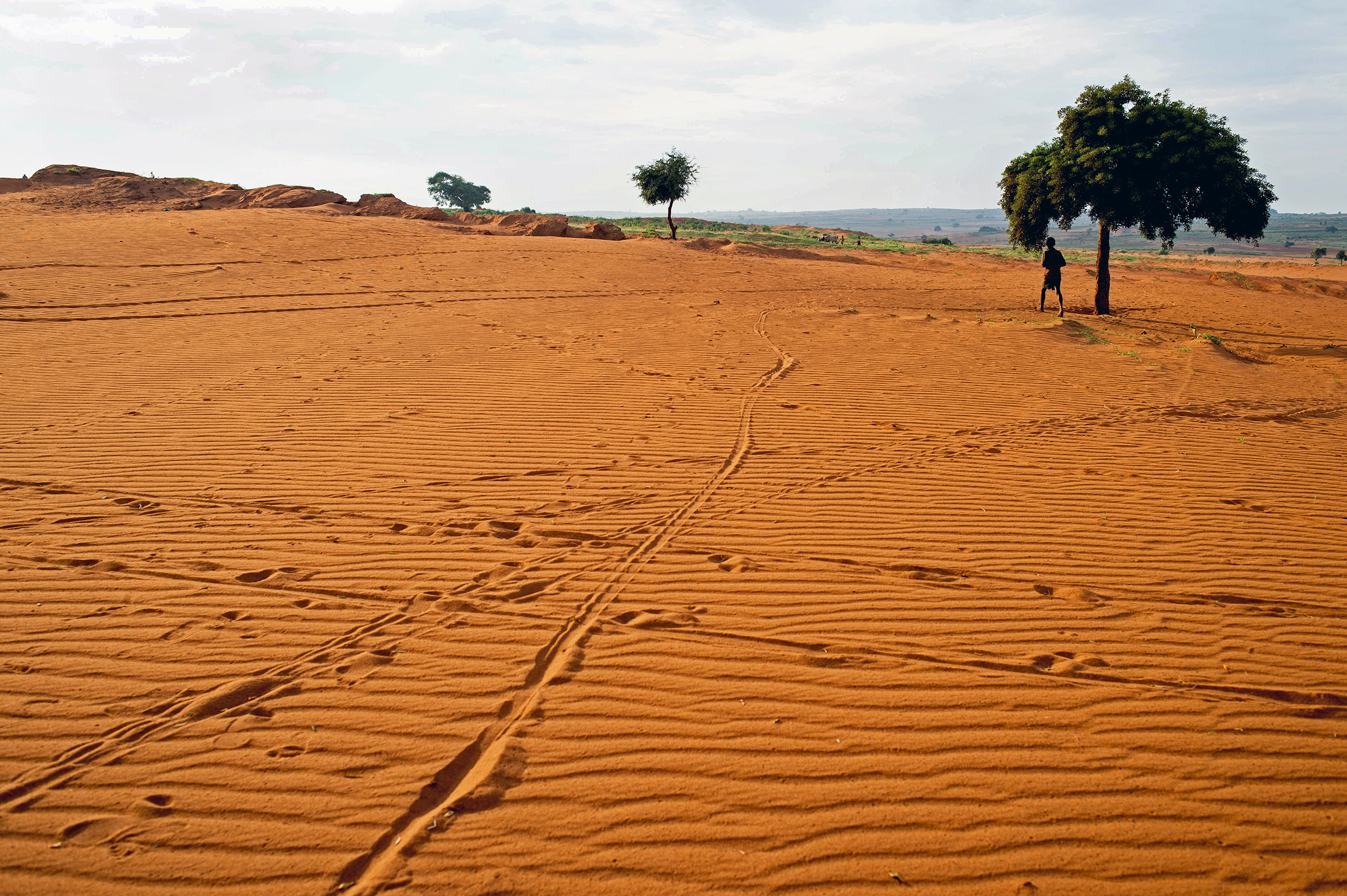 Cropland is covered by sand in Betsimeda, Maroalomainty commune, Ambovombe district, Madagascar May 2, 2021.