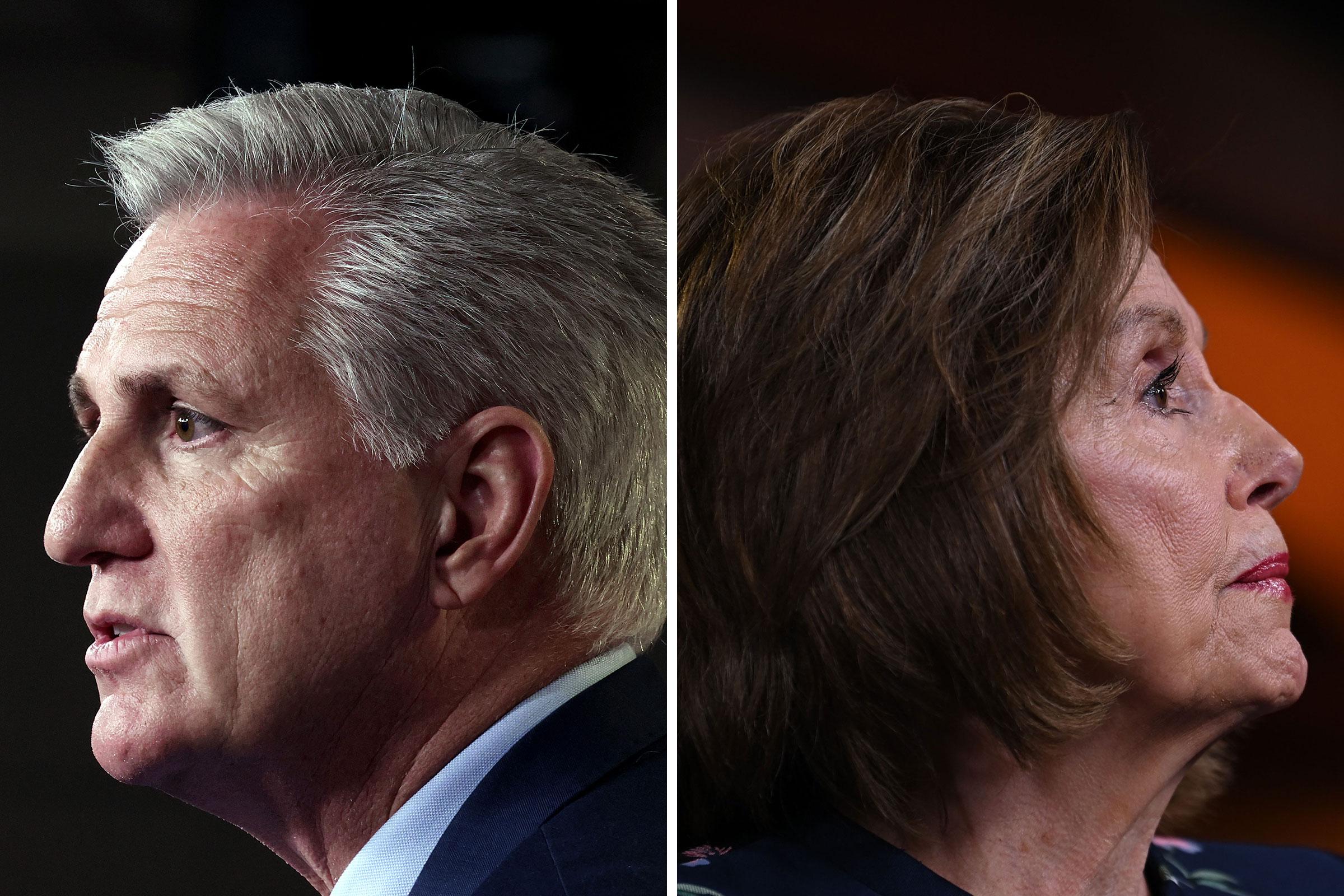 House Minority Leader Kevin McCarthy; Speaker of the House Nancy Pelosi