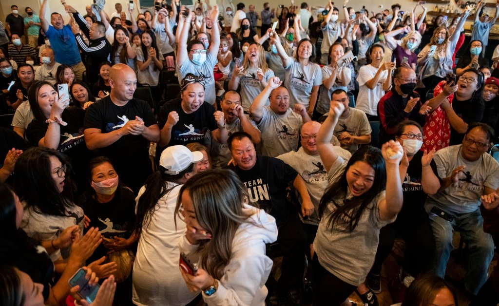 With No Spectators Allowed, Olympic Families Are Turning to Watch Parties