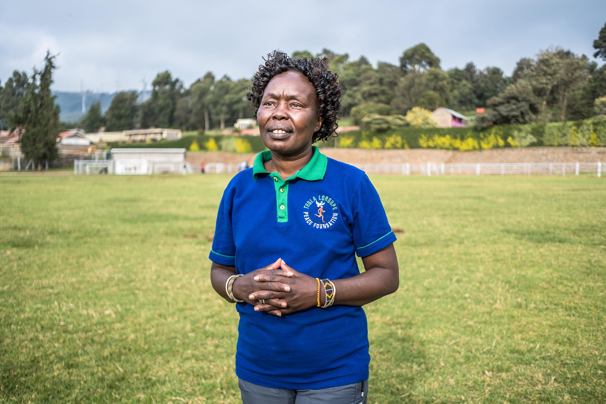 Camp founder Tegla Loroupe.