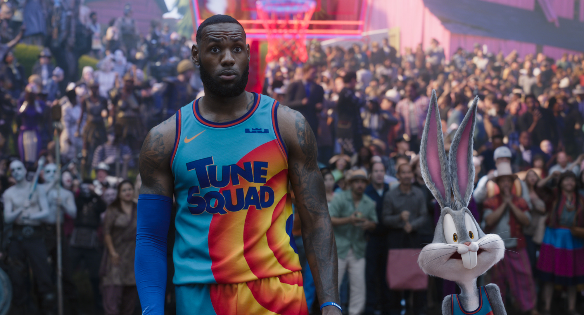 LeBron James and Bugs Bunny in the 'Space Jam' sequel