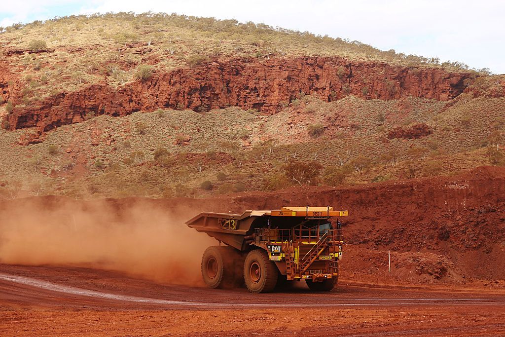An autonomous dump truck operates at Fortescue Metals Group's Solomon Hub mining operations in the Pilbara region, Australia, on Oct. 27, 2016.