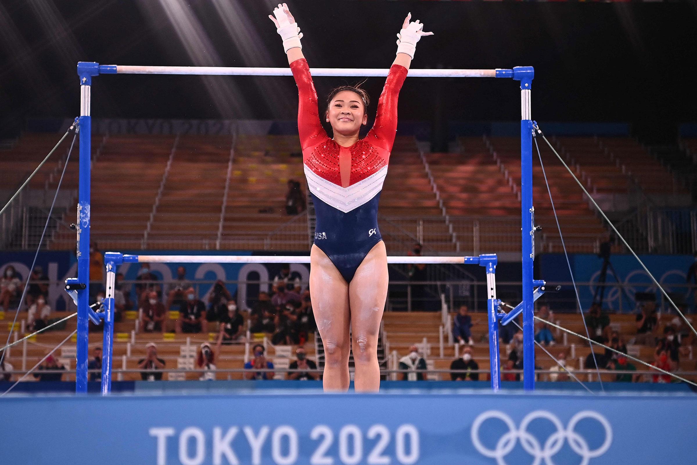 في 27 تموز (يوليو) 2021 ، ستستجيب الولايات المتحدة سينيسا لي في مركز أريوك للجمباز في طوكيو بعد مشاركتها في فريق أولمبياد الجمباز النسائي للمعاقين.