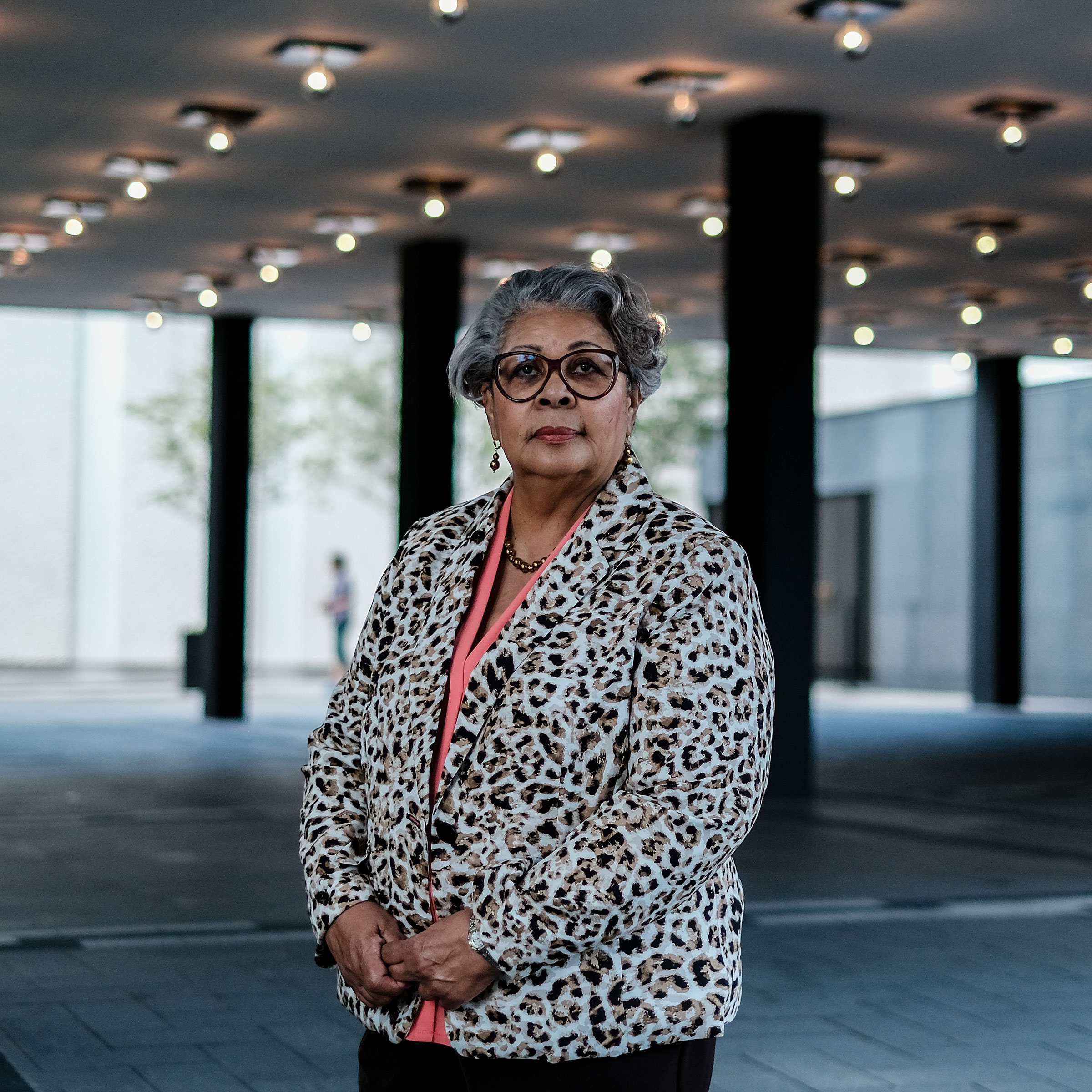 Texas Representative Senfronia Thompson stands for a portrait in Washington, D.C., on July 16, 2021.