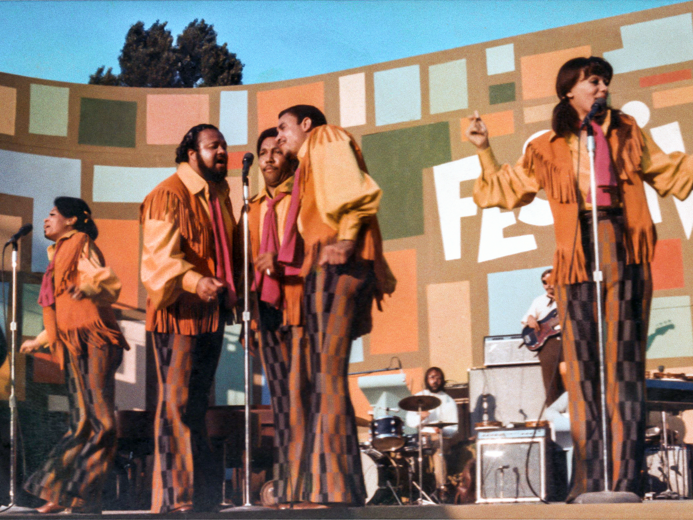 The 5th Dimension performing at the Harlem Cultural Festival in 1969, featured in the documentary 'Summer of Soul.'
