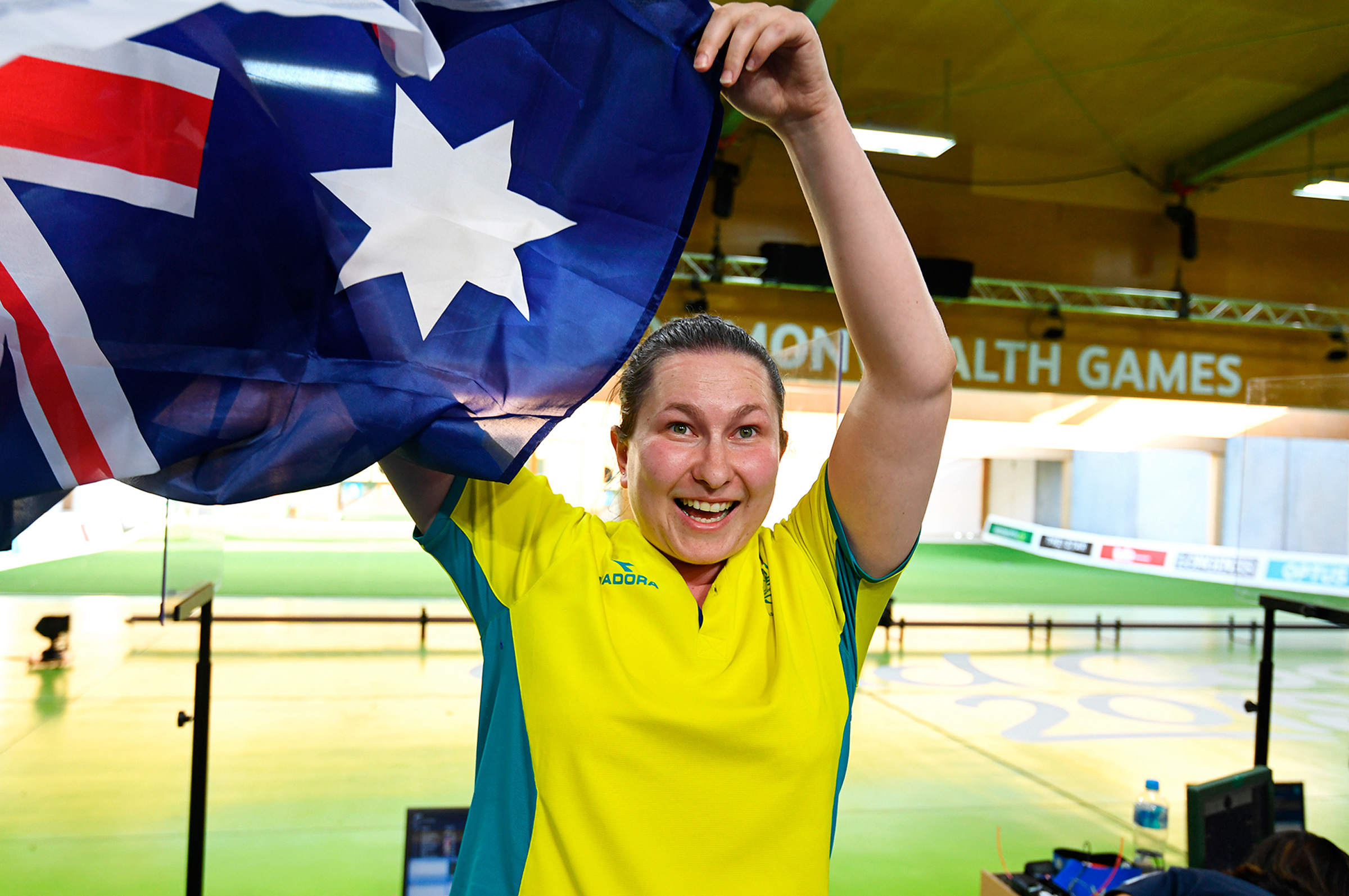 Galiabovitch after winning silver at the 2018 Commonwealth Games