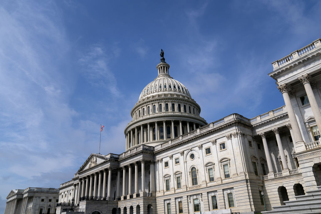 The U.S. Capitol in Washington, D.C., U.S., on Monday, June 21, 2021. The White House plan for trillions of dollars in proposed spending and tax increases is entering a procedural and political thicket in Congress that's likely to take at least until September to clear.