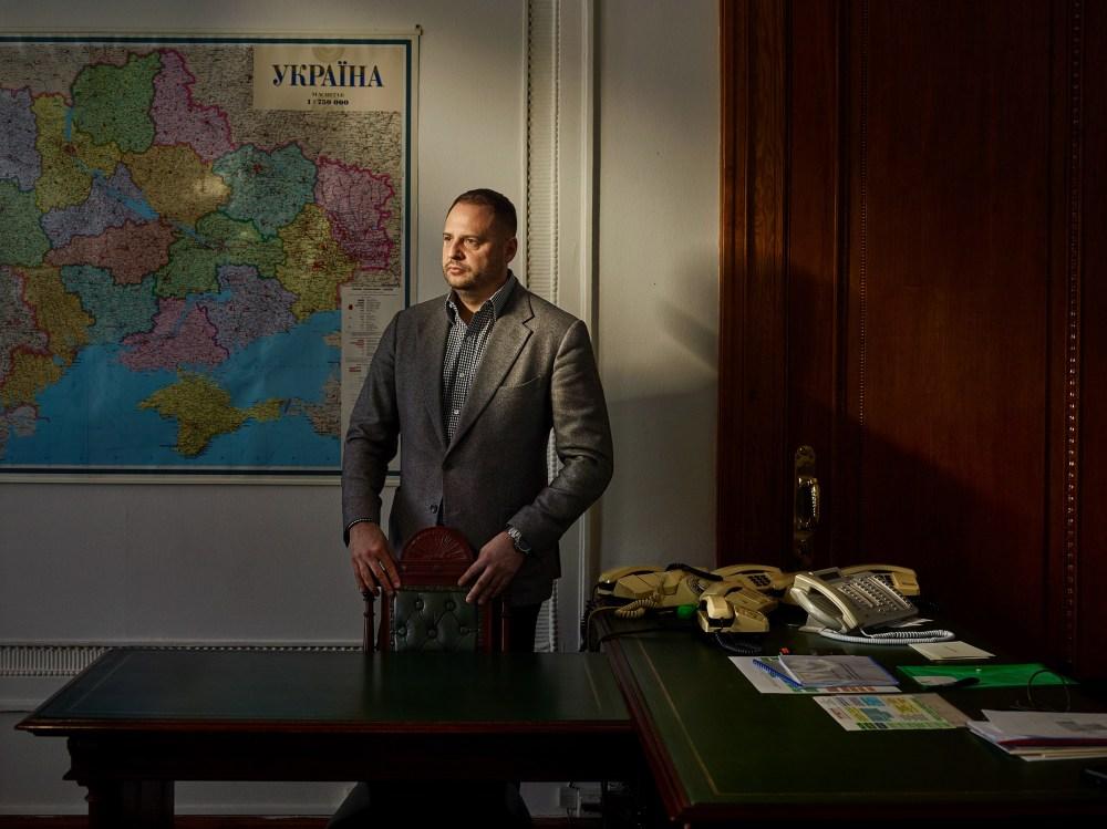 Kiev 4 December 2019 - portrait of Andriy Yermak, senior adviser to the President of Ukraine in the Office of the President of Ukraine (building).