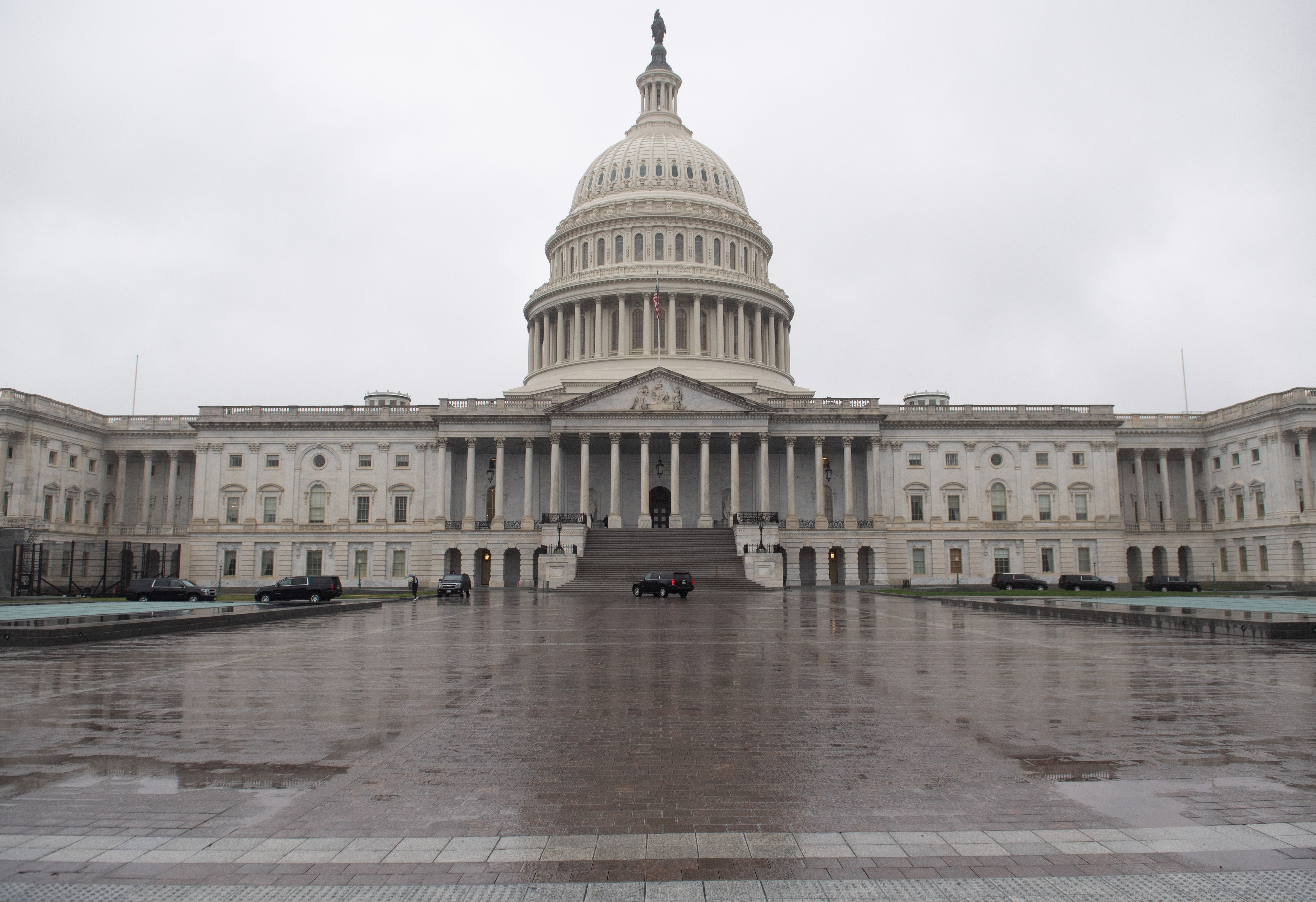 The US Capitol is seen in Washington, DC, March 23, 2020.