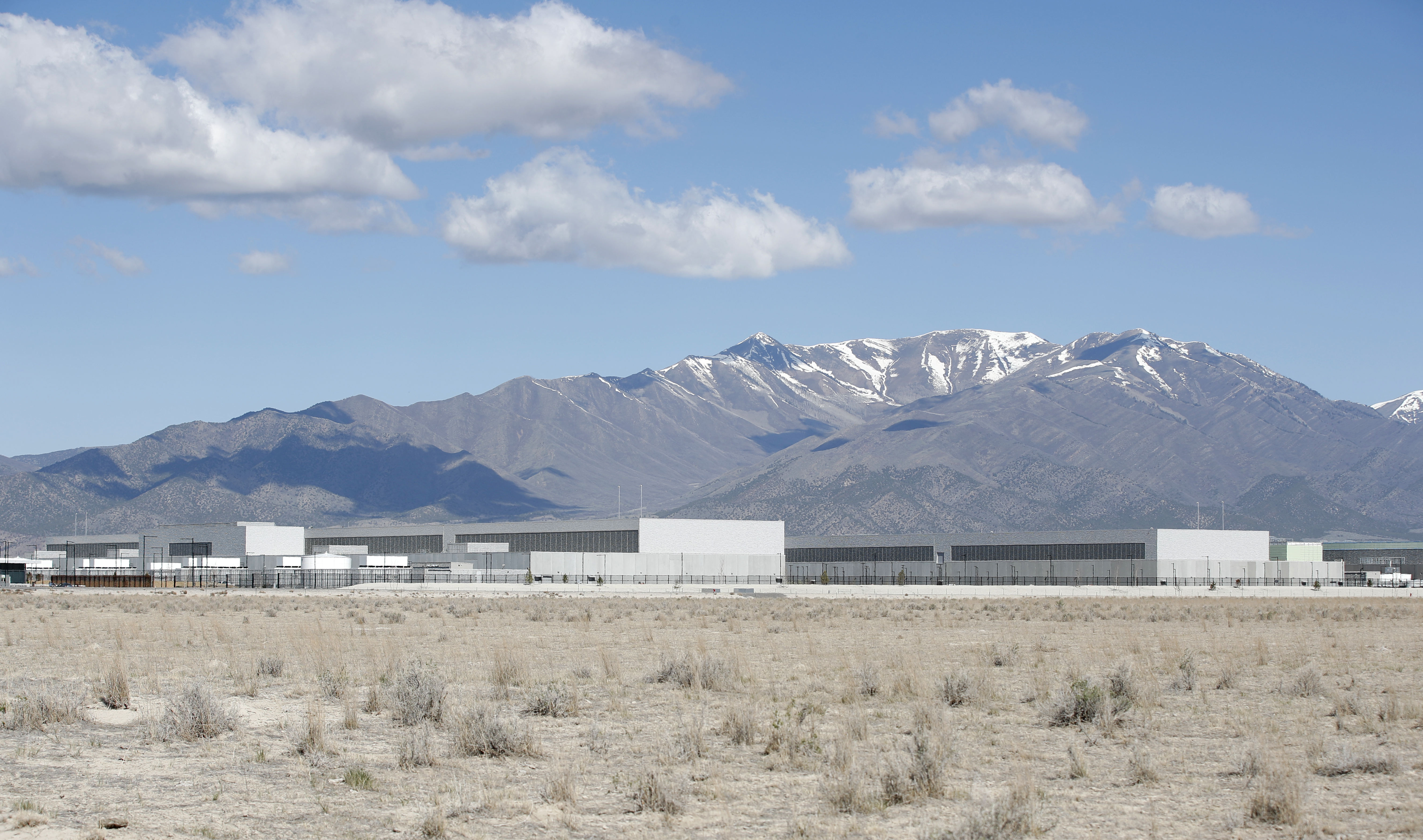 A view of the Facebook data center under construction in Eagle Mountain, Utah, on May 5, 2021.