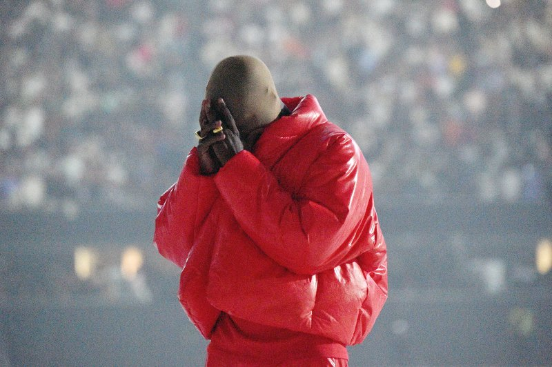 Kanye West at a Donda listening event at Mercedes-Benz Stadium on July 22, 2021 in Atlanta, Georgia.