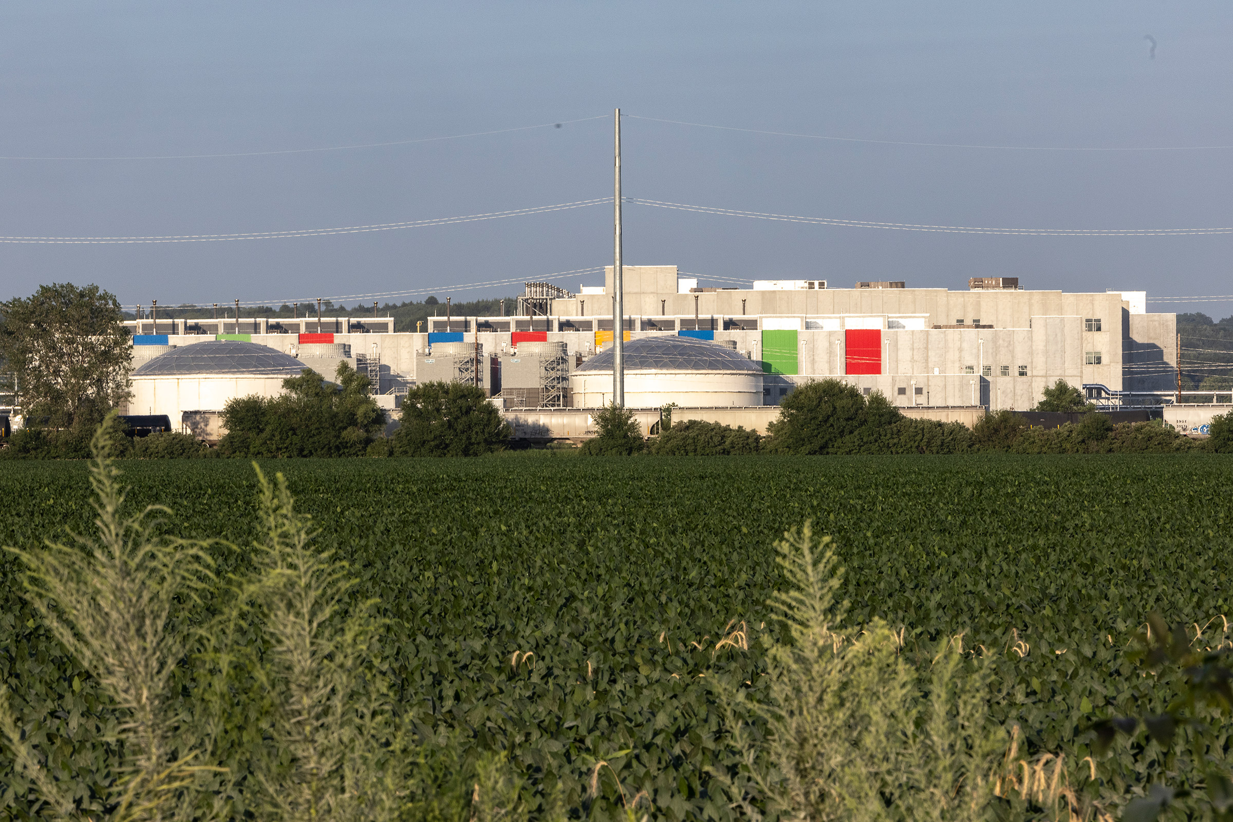 The Google data center in Council Bluffs, Iowa, on July 29, 2021.