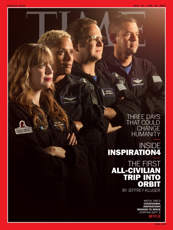 INSPIRATION4 Launch Time Magazine Cover