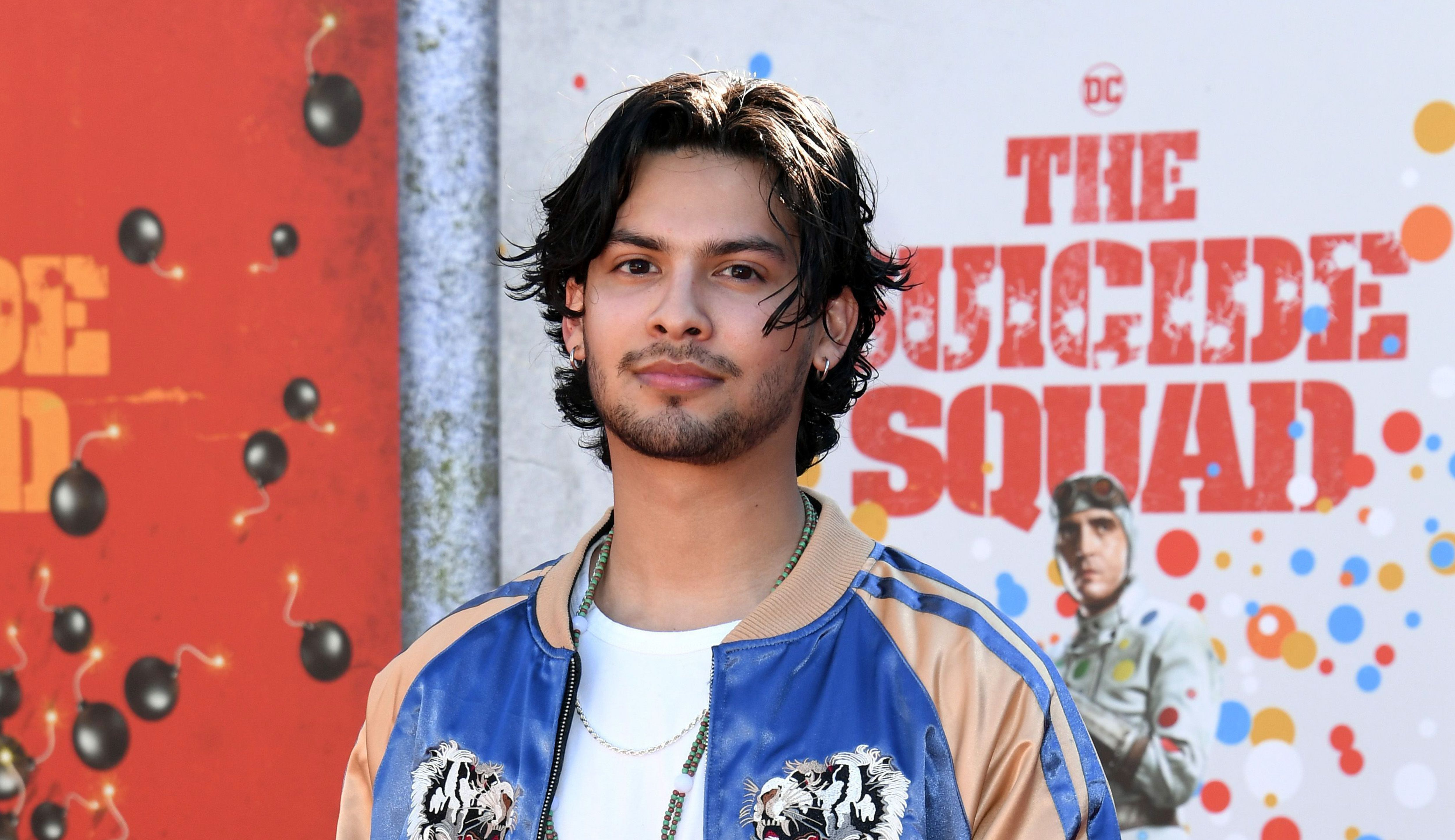 Xolo Maridueña attends the premiere of  The Suicide Squad  in Los Angeles.