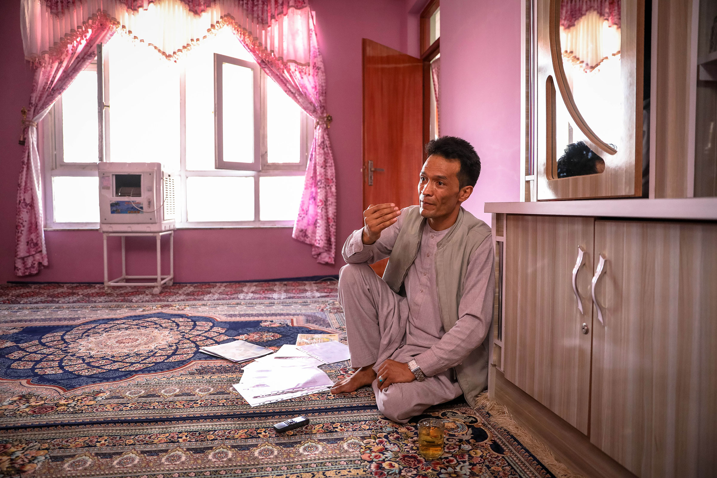 Abdul Rashid Shirzad, a former interpreter for the U.S. forces at his house in Kabul, Afghanistan, June 10, 2021. Thousands of Afghan interpreters and other employees of the U.S. forces were denied Special Immigration Visas (SIVs) by the U.S. government.