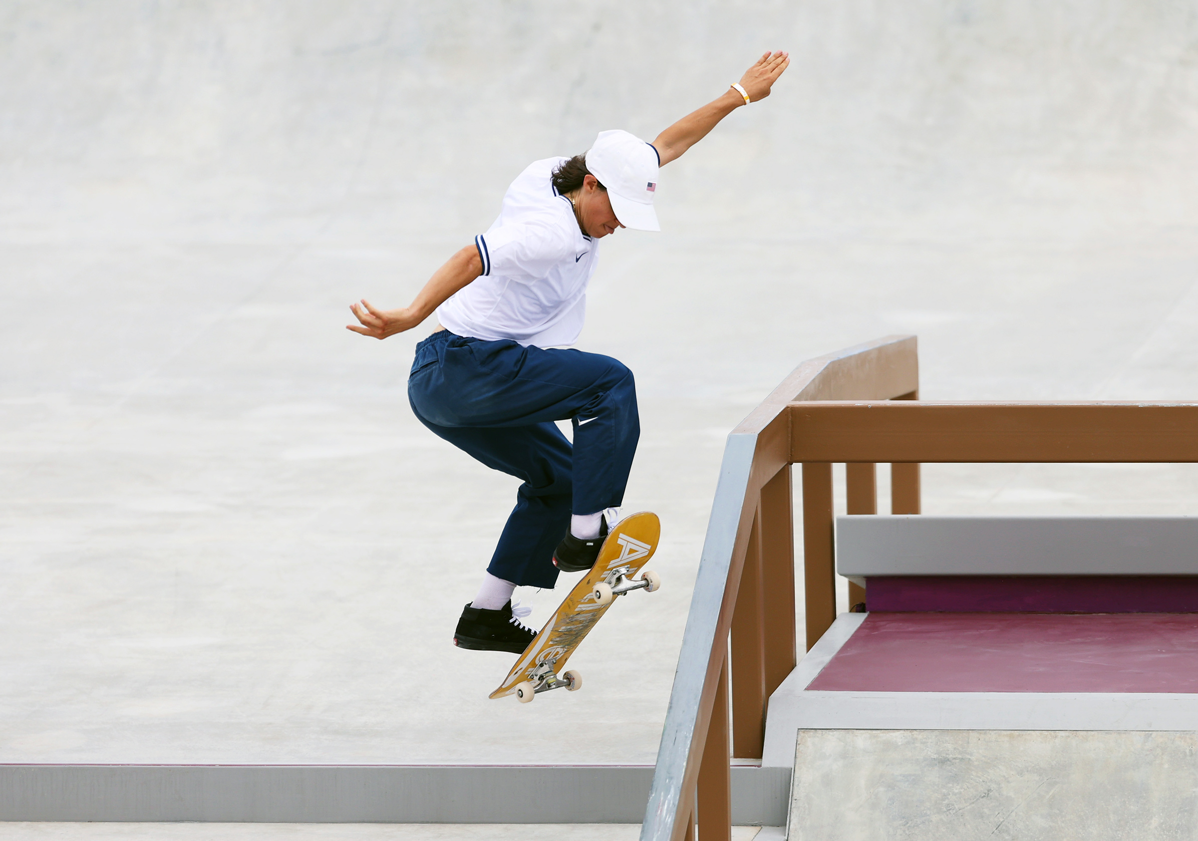 Alexis Sablone of Team United States competes during the Women's Street Prelims Heat 4 on day three of the Tokyo 2020 Olympic Games at Ariake Urban Sports Park on July 26, 2021 in Tokyo, Japan.
