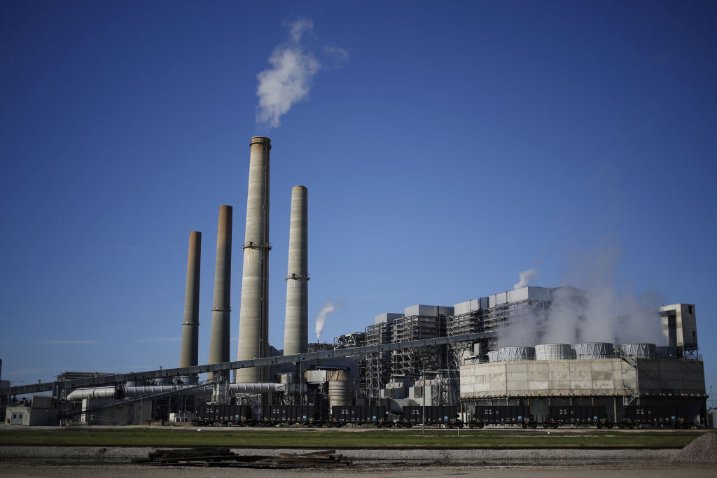 The NRG Energy Inc. WA Parish generating station, home to the Petra Nova Carbon Capture Project, in Thompsons, Texas, U.S., on Feb. 16, 2017.