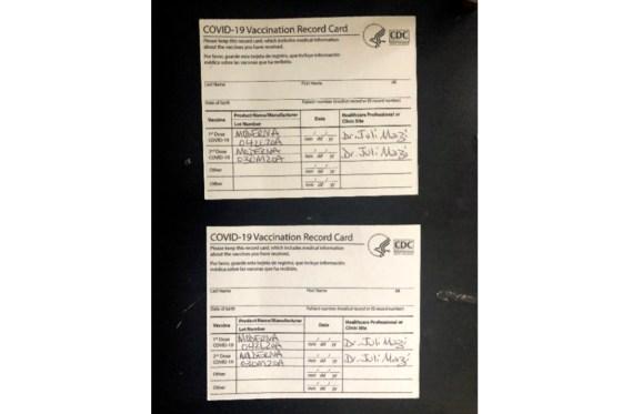 Virus Outbreak Fake Vaccine Cards