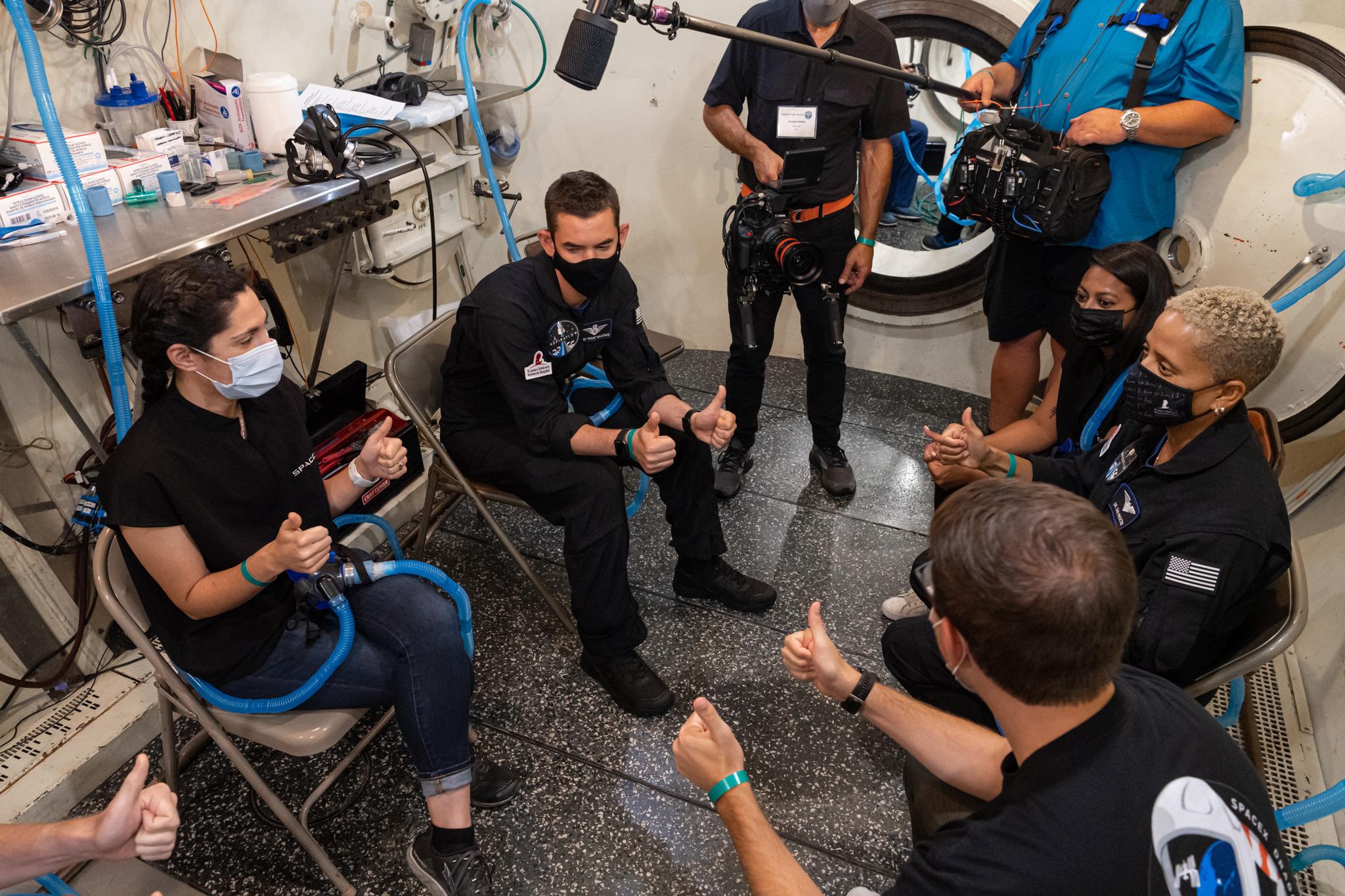 Altitude chamber training at Duke Health in Durham, North Carolina, Jul. 2, 2021.