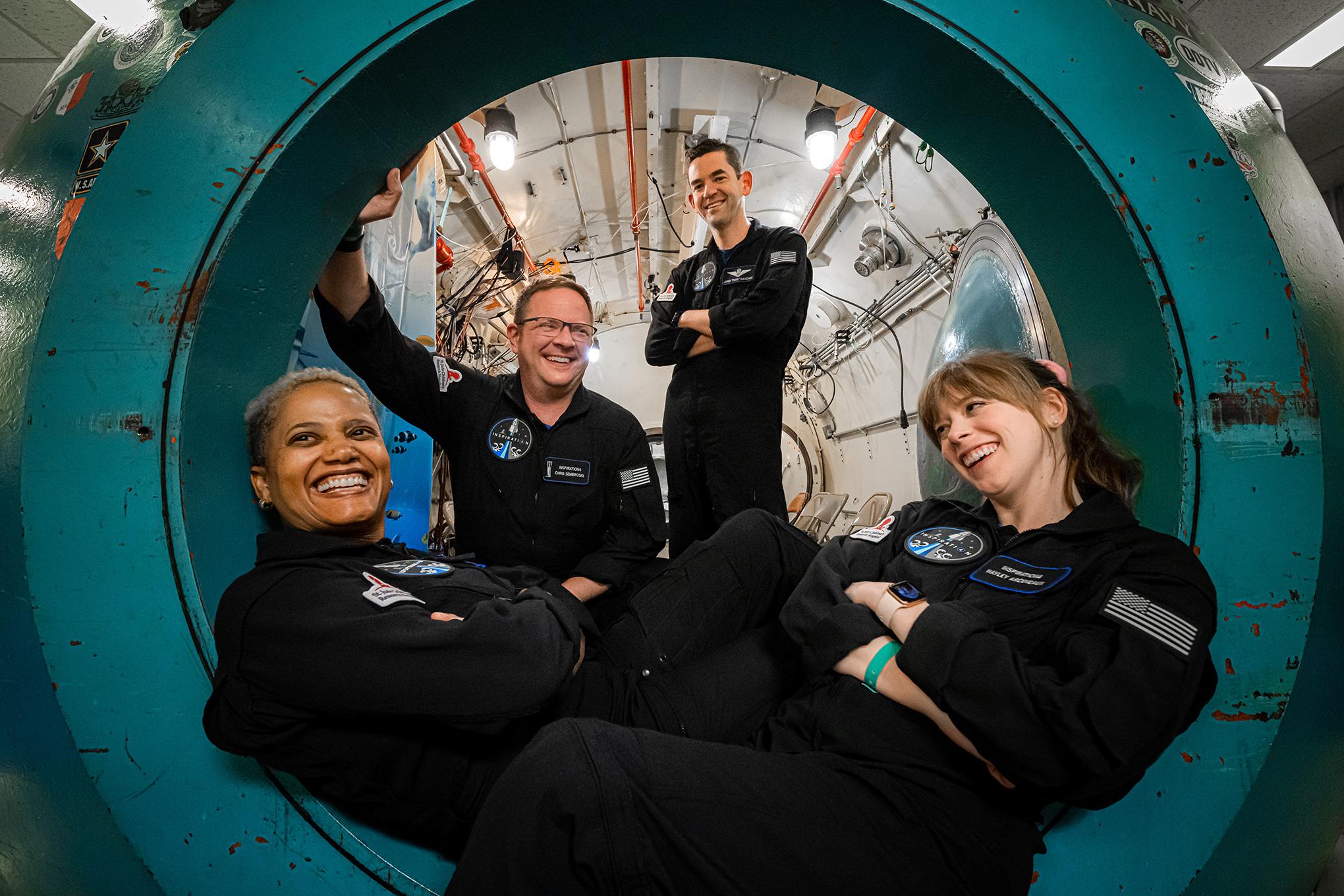 The Inspiration4 crew at Duke Health in Durham, North Carolina on July 2, 2021.